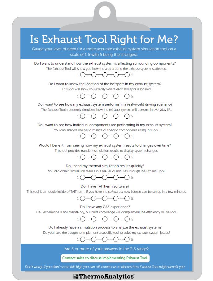 Exhaust Tool Checklist Image